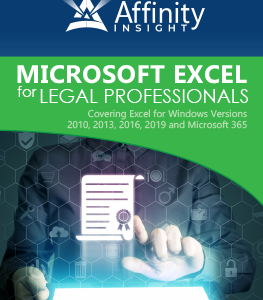 Microsoft Excel for Legal Professionals Manual | Legal Microsoft Office Training