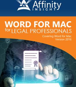 Microsoft Word for MAC Manual - 2016 version | Legal Microsoft Office Training