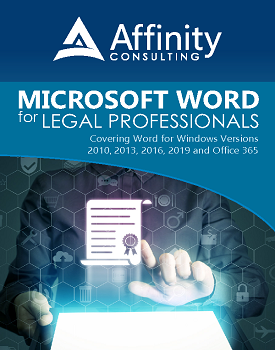 Microsoft Word Manual for Legal Professionals | Legal Microsoft Office Training