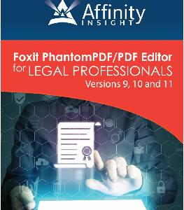 Foxit Phantom PDF/PDF Editor for Legal Professionals Manual | Legal PDF Software Training