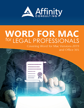 Word for MAC Manual Versions 2019 and Office 365 | Legal Microsoft Office Training